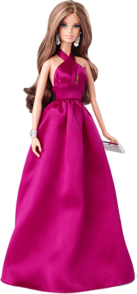 Barbie Collection Look - Red Carpet - Magenta Gown