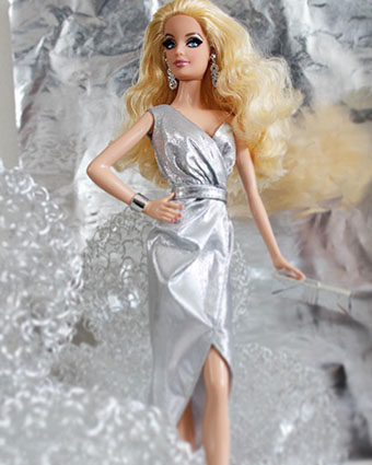 Barbie Collection City Shine - Silver Dress