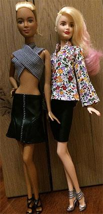 Barbie Fashionistas & Fashions Leather & Ruffles Doll