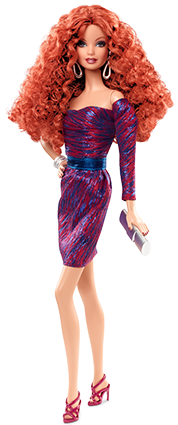 Barbie Collection Look - City Shine - Purple Dress