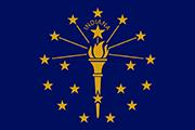 Drapeau Indiana