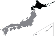 Drapeau Hokkaido (JPN)