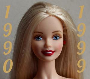 Barbie année 1990 à 1999